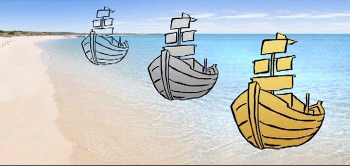 Allégorie des 3 bateaux