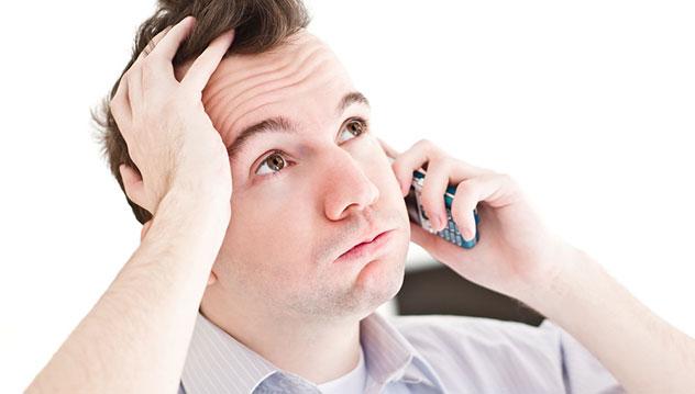 Prospect ennuyé au téléphone